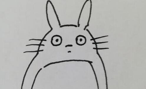 呆萌的龙猫简笔画步骤教程