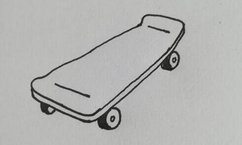 小孩喜欢玩的滑板车简笔画步骤教程