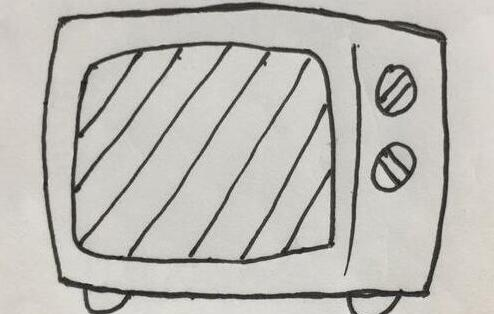 能做好吃的微波炉简笔画步骤教程