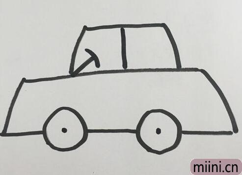 小汽车非常简单的简笔画步骤教程