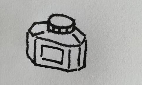 墨水瓶的简笔画步骤教程