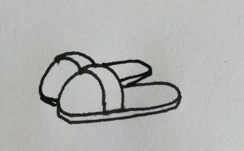 非常舒服的拖鞋简笔画步骤教程