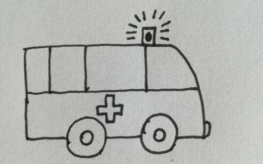 哇呜~wawu~救人的救护车简笔画步骤教程
