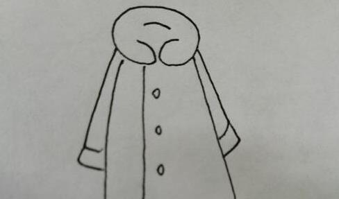女士大衣棉袄简笔画步骤教程