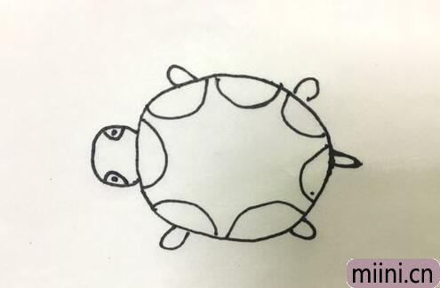 可爱的小乌龟简笔画步骤教程