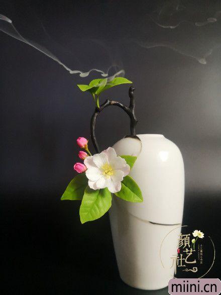树脂粘土海棠花制作教程