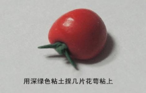 超级逼真的番茄西红柿粘土制作步骤教程