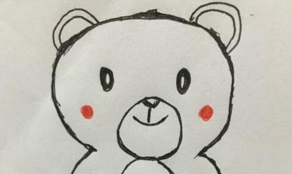 给数字8添上几笔就能画出一个小熊