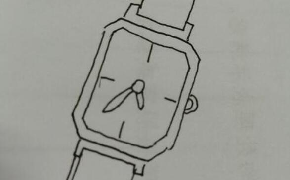 看时间的手表简笔画步骤教程