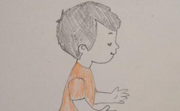 帅气的小男孩简笔画步骤教程