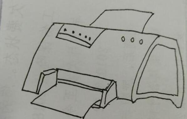 万能的打印机简笔画步骤教程