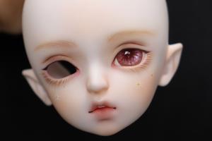 bjd娃娃改妆过程给小光头画一个清新的田园风妆面