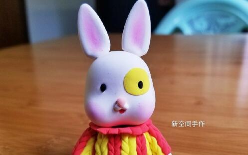 超轻粘土可爱的小兔子手办玩偶制作步骤教程