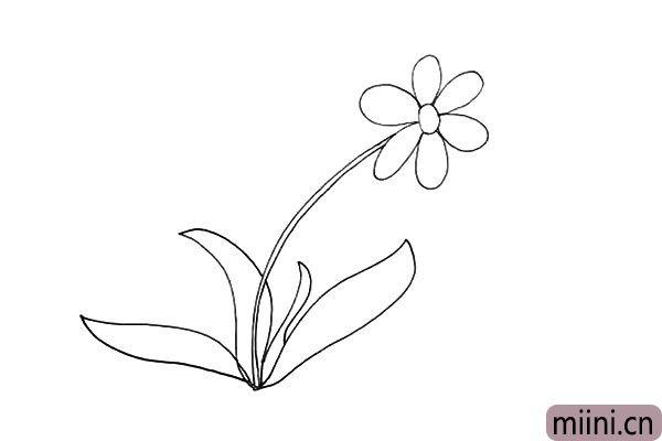 5.同样的画法我们画出其它长短不一的叶子。