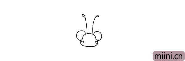 5.头部的两边画上它小小的脸颊.注意位置。