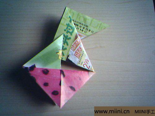 漂亮的折纸杯垫的折叠方法8