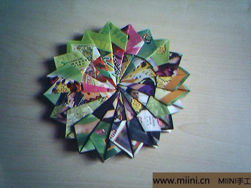漂亮的折纸杯垫的折叠方法11