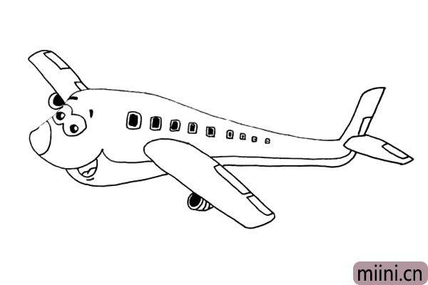 10.还有另一侧机翼下面的加速器也给描绘出来。