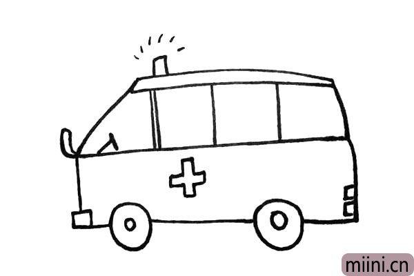 9.接着在车身上面画上一个大大的十字。