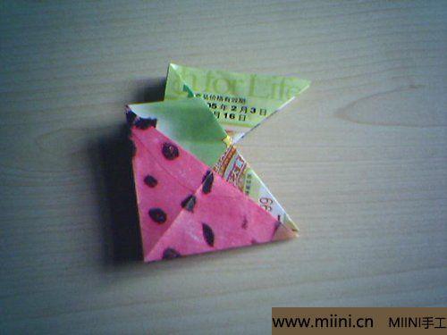 漂亮的折纸杯垫的折叠方法9