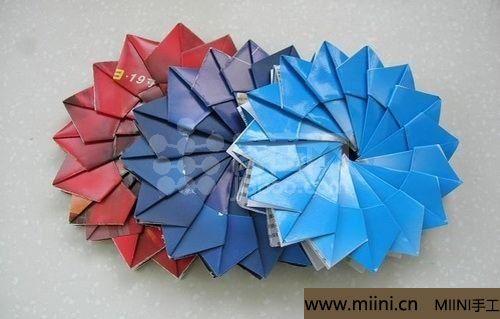 漂亮的折纸杯垫的制作步骤教程