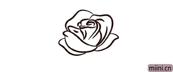 5.画更多的花瓣丰富花朵。