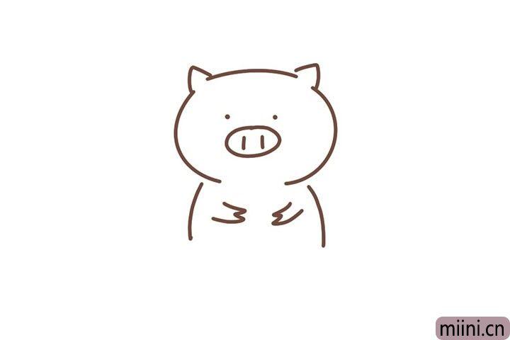 5.画小猪的双手。