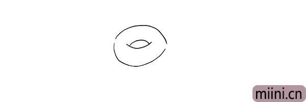 第三步.向外画出一圈甜甜圈的外部轮廓。
