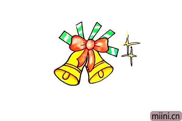 圣诞的大铃铛简笔画步骤教程