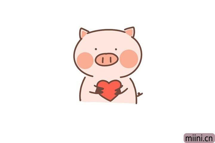 7.给小猪涂上颜色。