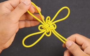教你编中国吉祥结,步骤清晰,非常漂亮的挂饰绳结
