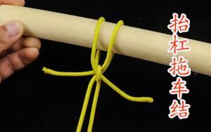 多用途绳结,适用于抬杠拖车非常牢固,打法简单