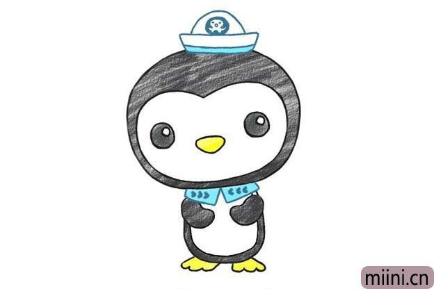 海底小纵队企鹅皮医生简笔画步骤教程