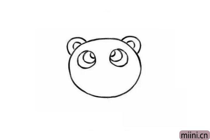 3.画出狮子大大的眼睛。