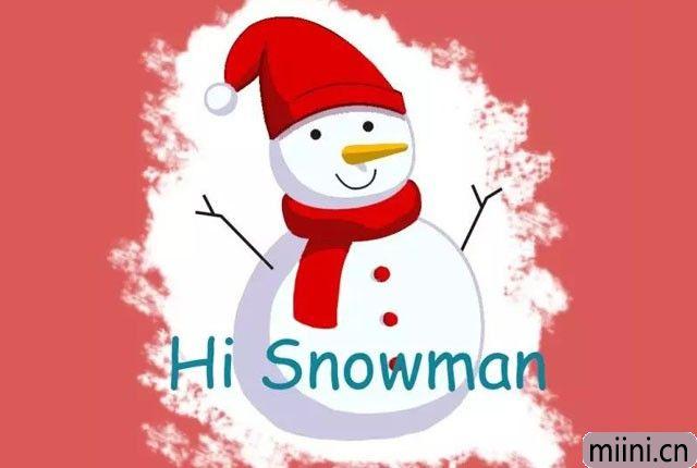 带红色帽子的雪人简笔画步骤教程