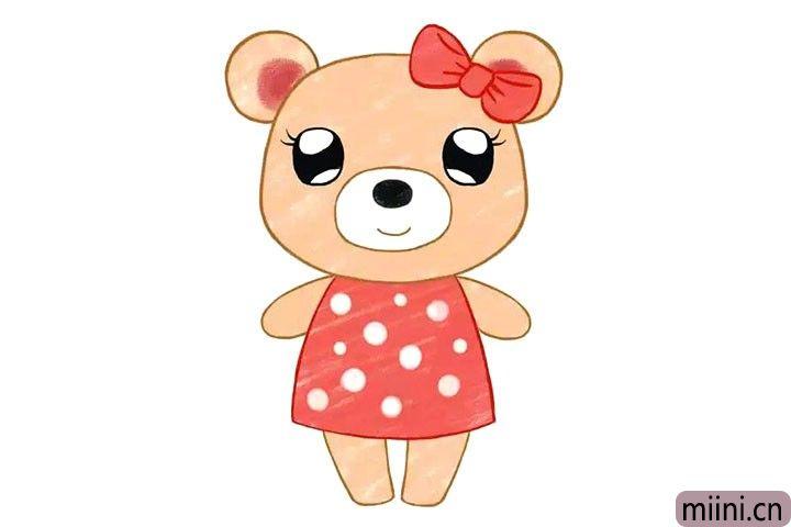 可爱的小熊简笔画步骤教程