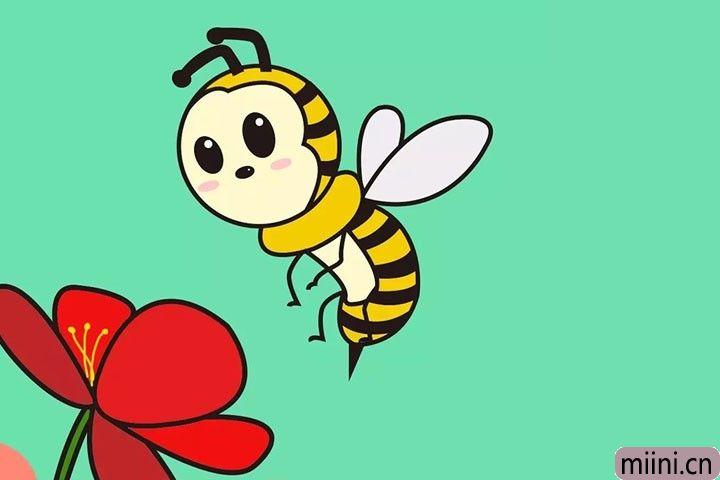 每天都很勤劳的小蜜蜂简笔画步骤教程