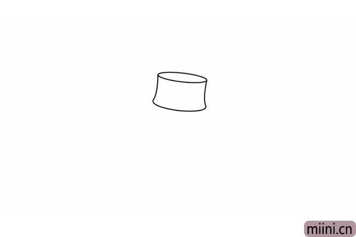 1.线画出稻草人的帽顶。