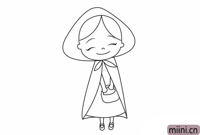 笑起来真好看的小红帽简笔画步骤教程