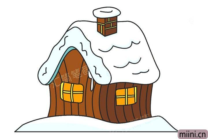 很帅气的雪屋简笔画步骤教程