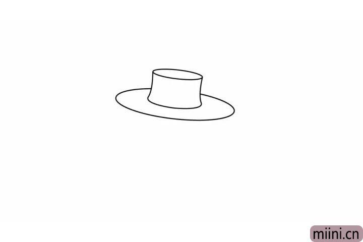 2.再画稻草人的帽檐。