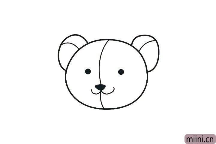 4.画出耳朵厚度和脸部分割线。
