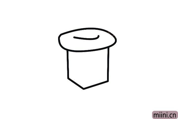 1.先画出雪屋的烟囱。