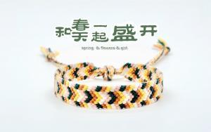 编制一个手链,戴上它,和春天融为一起