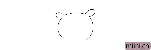 1.先画小猪的头部轮廓。