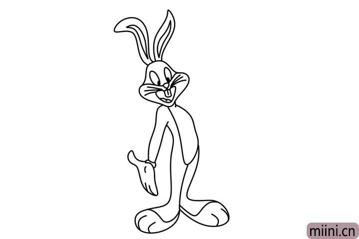 5.画出兔八哥的另一条腿。