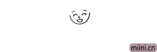 第三步:画出奶奶的鼻子以及嘴巴。