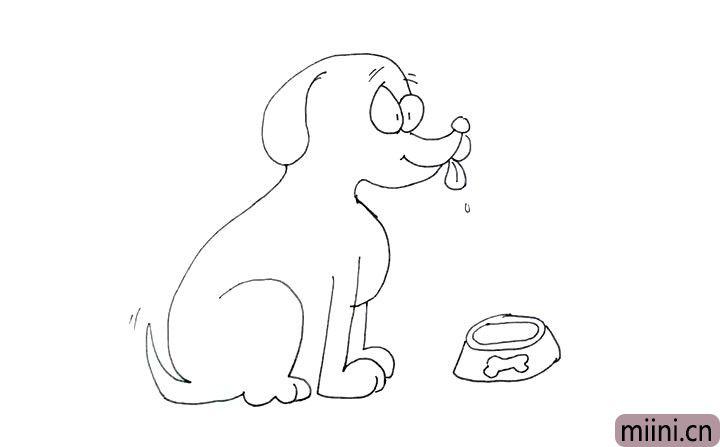 12.给小狗加上点缀, 使画面更加生动活泼。