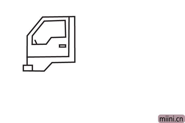 3.接着画车头的厚度轮廓。