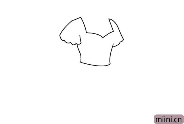 3.画出裙身线条。